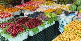 Fruits stall royalty free stock photos