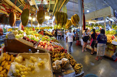 Fruits stalls at Banzaan Market in Patong. Banzaan Market is a covered market in Patong, Phuket, Thailand Royalty Free Stock Photo