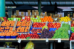 Fruits stand Stock Images