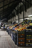 Fruits stand on a market Stock Image