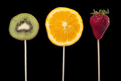 Fruits on stick Royalty Free Stock Images