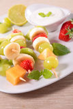 Fruits on stick Stock Photography