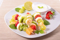 Fruits on stick Stock Images