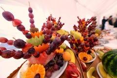 Fruits on stick Royalty Free Stock Photo