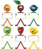 Fruits stickers Stock Images