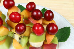Fruits on sticks Royalty Free Stock Images
