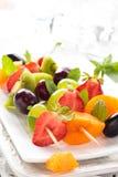 Fruits on sticks. Stock Image