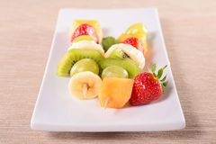 Fruits on sticks Royalty Free Stock Photos
