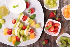 Fruits on sticks Stock Photo