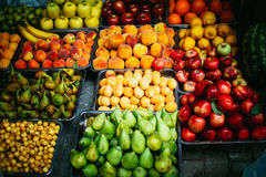Fruits. In a street market Royalty Free Stock Photography