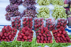 Fruits in a street market royalty free stock photo