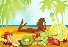 Fruits and summer. Stock Images