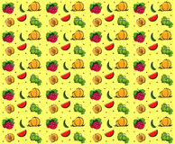 Fruits summer seamless texture Royalty Free Stock Image