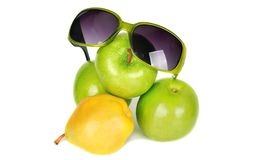 Fruits and sunglasses. Stock Photos