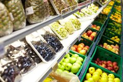 Fruits in supermarket Stock Photography