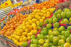 Fruits in supermarket Royalty Free Stock Images