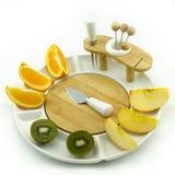Fruits sur le plat Photographie stock libre de droits