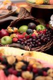 Fruits and sweets Royalty Free Stock Photo