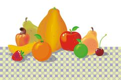 Fruits on the Table 02 Stock Images