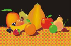 Fruits on the table Royalty Free Stock Image