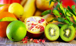 Fruits on table Royalty Free Stock Photography