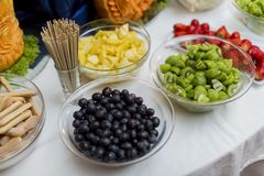 Fruits on the table Stock Photography