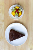 fruits tart and of chocolate cake Royalty Free Stock Image