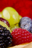 Fruits tart close up Royalty Free Stock Photos