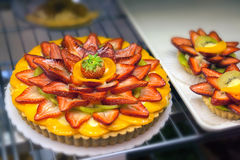 Fruits Tarts and  Pie Closeup Royalty Free Stock Images