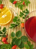 Fruits tea with rose hips and oranges Royalty Free Stock Images