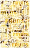 Fruits text with bananas Stock Photos