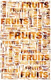 Fruits text with oranges Stock Photo