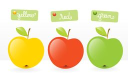 Fruits-three apples Royalty Free Stock Images
