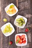 Fruits, top view Royalty Free Stock Photo