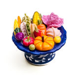 Fruits Toy Make From Plastic In White Stock Photos