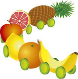 Fruits train Royalty Free Stock Photo