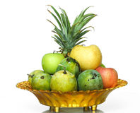 Fruits in the tray. Fruit is giving a people good health Stock Images