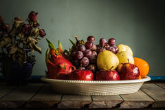 Fruits in a tray Royalty Free Stock Images