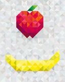Fruits. Twi fruis in gray background Stock Images
