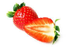 fruits - Two Strawberries Stock Images