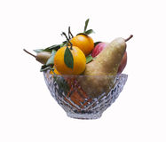 Fruits in vase Royalty Free Stock Photography
