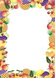 Fruits vector frame Stock Image