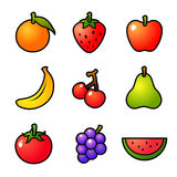 Fruits vector icon Royalty Free Stock Images