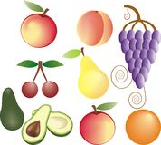 Fruits vector set Royalty Free Stock Image