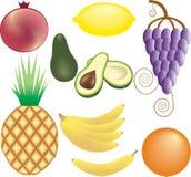 Fruits vector set Royalty Free Stock Photos