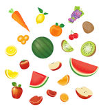 A fruits vector set Stock Photo