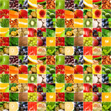Fruits vegetable big collage. Fruits and vegetable collage.  Healthy nutrition concept Royalty Free Stock Images