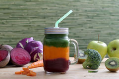 Fruits and vegetable smoothie Royalty Free Stock Photo