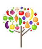 Fruits and vegetable tree Royalty Free Stock Photo