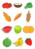 Fruits and Vegetables in  Stock Photography